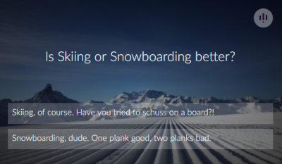 Is Skiing or Snowboarding Better? Have your say...