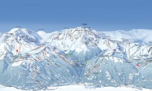 Maps for Les Arcs: Vallandry - Piste, town and resort maps.