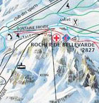 Piste Maps for La Plagne: Belle Plagne