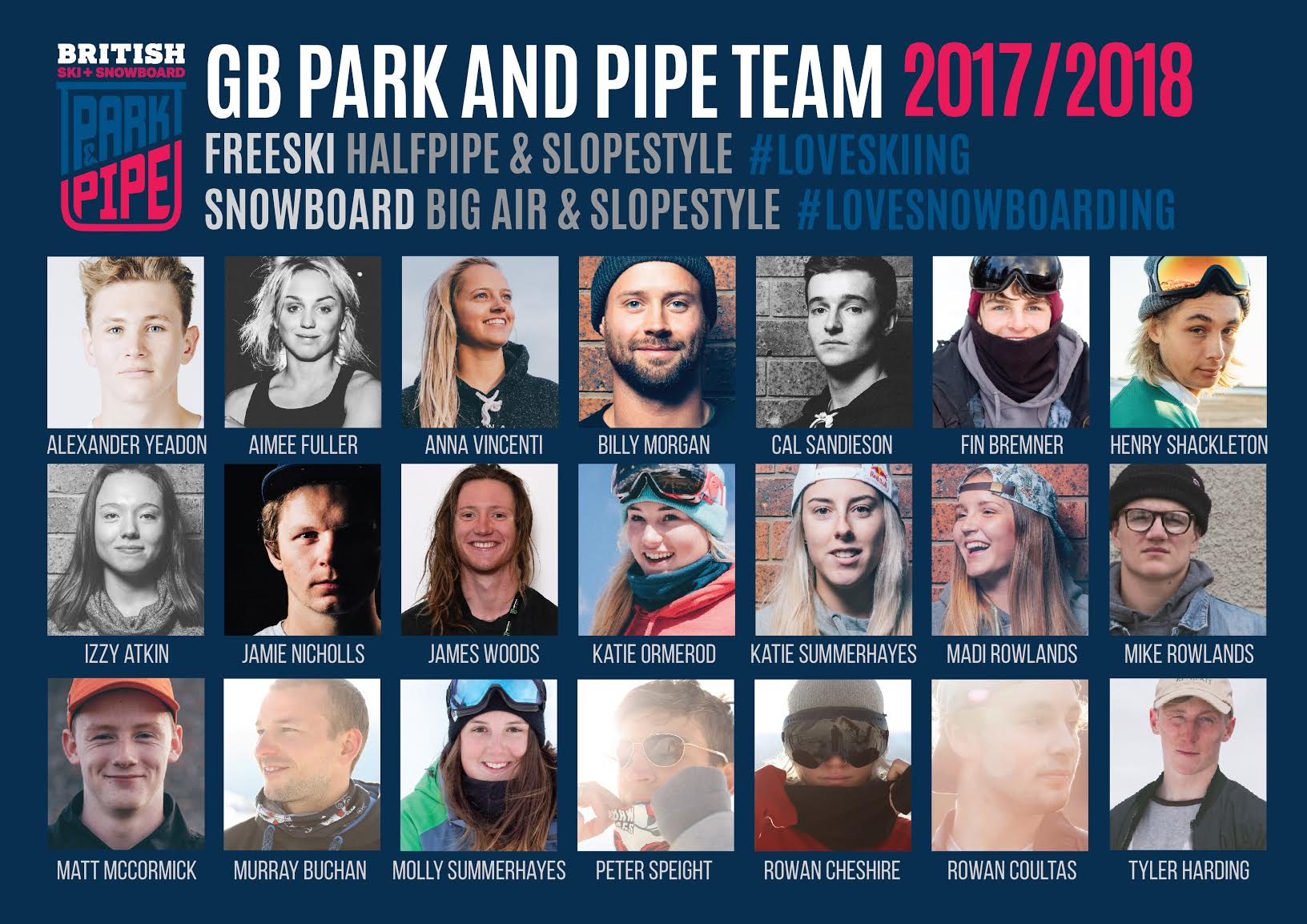 GB Park and Pipe Team 2017-18