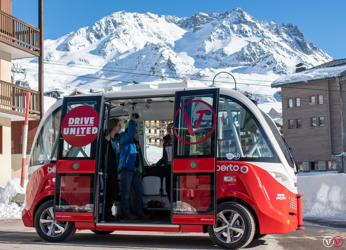 Self-driving bus in Val Thorens